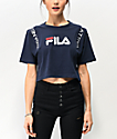FILA Apolline Navy Crop T-Shirt