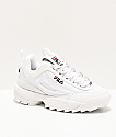 FILA Disruptor II 3D Embroidery White Shoes