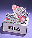 FILA Disruptor II Monomesh Pink & Purple Shoes