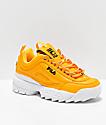 FILA Disruptor II Premium zapatos amarillos, blancos y negros