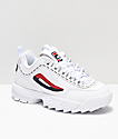 FILA Disruptor II zapatos blancos con logotipos