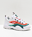 FILA Ray Miami White, Storm & Cherry Tomato zapatos