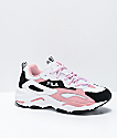 FILA Ray Tracer Pink, Black & White Shoes