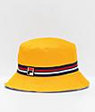 FILA sombrero de cubo amarillo reversible