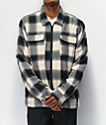 FRESHHELL Sherpa Tan & Black Zip Flannel Shirt