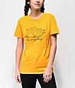Fairplay Script Roses camiseta dorada