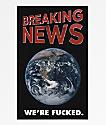 Flying Coffin Breaking News Sticker