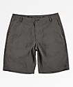 Free World Glassy shorts de baño híbridos grises