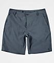 Free World Glassy shorts híbridos en azul jaspeado