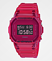 G-Shock DW5600 Clear Red Digital Watch