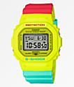 G-Shock DW5600 Retro Yellow, Red & Blue Watch