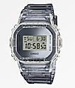 G-Shock DW5600 reloj digital gris y transparente