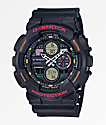 G-Shock GA140-1A4 Black & Retro Orange Watch