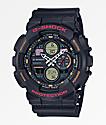 G-Shock GA140-1A4 reloj negro y naranja retro