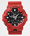 G-Shock GA700-4A Front Button reloj rojo