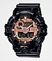 G-Shock GA700 Black & Rose Gold Watch