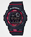 G-Shock GBD800 reloj negro y rojo