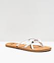 Gigi Star Strappy White & Tan Sandals