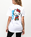 Girl x Hello Kitty 45th Anniversary Rainbow camiseta blanca