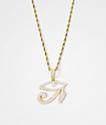 "Gold Gods Diamond Eye Of Horus Pendant & 22"" Rope Chain Necklace"