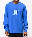 HUF Marka Supply Blue Crew Neck Sweatshirt