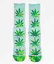 HUF Plantlife Blue, Green & Yellow Tie Dye Crew Socks