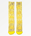 HUF Plantlife Digital Dye Aurora Yellow Crew Socks