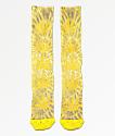 HUF Plantlife Digital Dye Aurora calcetines amarillos