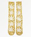 HUF Plantlife Melange calcetines amarillos