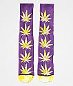 HUF Plantlife Ultra Violet calcetines con hojas teñidas