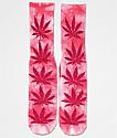 HUF Plantlife calcetines con efecto tie dye rosa
