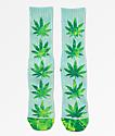 HUF Plantlife calcetines de tie dye azul, verde y amarillo