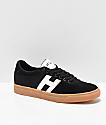 HUF Soto zapatos skate en negro, blanco y goma