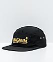 HUF x Trojan Magnum Stash Black 5 Panel Strapback Hat