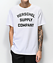 Herschel Supply Co. Stacked Logo camiseta blanca