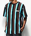 High Company Kidz camiseta marrón y azul de rayas verticales
