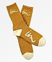 Imperial Motion Curser calcetines en amarillo mostaza