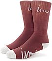 Imperial Motion Curser calcetines en gris y color borgoño