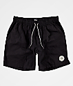 Imperial Motion Tub Seeker Volley Black Elastic Waist Shorts