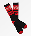 Independent Crosses calcetines negros y rojos