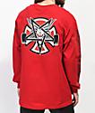 Independent x Thrasher Pentagram camiseta roja de manga larga