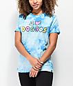 JV by Jac Vanek I Love Doggos camiseta tie dye azul