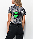 JV by Jac Vanek Not A People Person Alien Black & White Tie Dye T-Shirt
