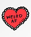 JV by Jac Vanek Weird AF Sticker