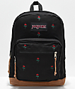 JanSport Right Pack Expressions mochila con bordados de rosas