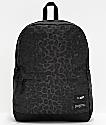JanSport x HUF Wells mochila negra de leopardo