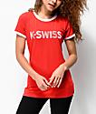 K-Swiss Ringer camiseta roja