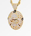 King Ice Hockey Mask XL Gold Pendant Necklace