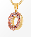 King Ice X Odd Future Donut Pendant Gold Womens Necklace