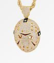 King Ice XL collar con colgante de máscara de oro